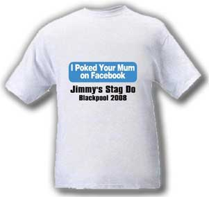 Facebook Your Mum Stag T-Shirt